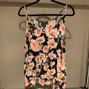 Forever 21+ Floral Babydoll Tank - Size 3X